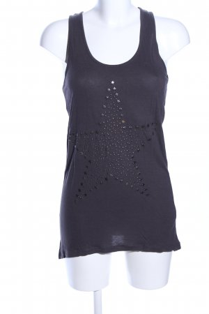 Only Tank Top black themed print casual look