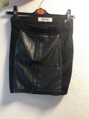 Only Falda de cuero de imitación negro