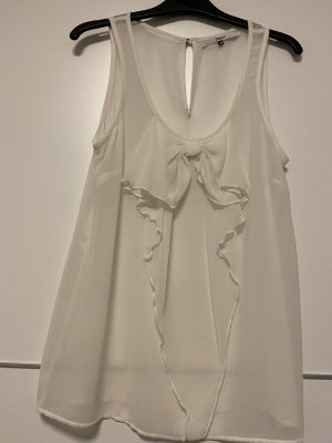 Only Blouse topje wolwit Zijde