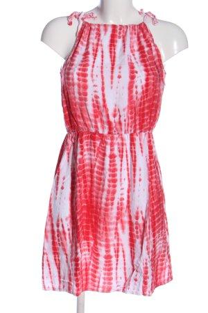 Only Trägerkleid pink-weiß abstraktes Muster Casual-Look