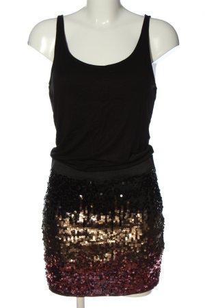 Only Trägerkleid schwarz-goldfarben Elegant