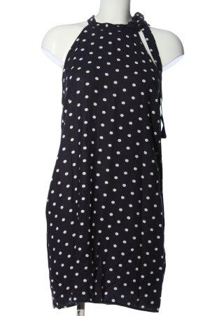 Only Trägerkleid schwarz-weiß Punktemuster Casual-Look