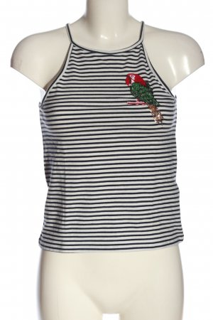 Only Strappy Top white-black themed print casual look