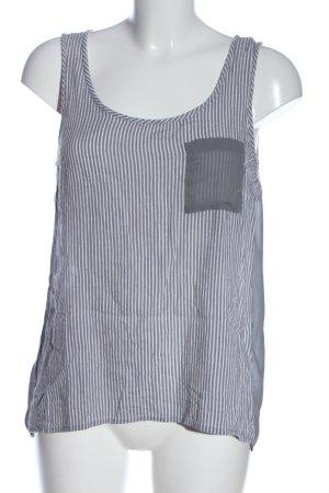 Only Débardeur à bretelles gris clair-blanc motif rayé style décontracté