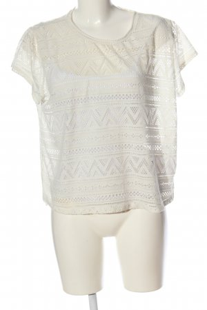 Only Transparenz-Bluse wollweiß Casual-Look