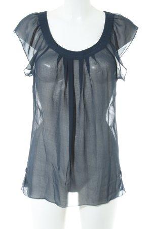 Only Transparenz-Bluse blau Elegant