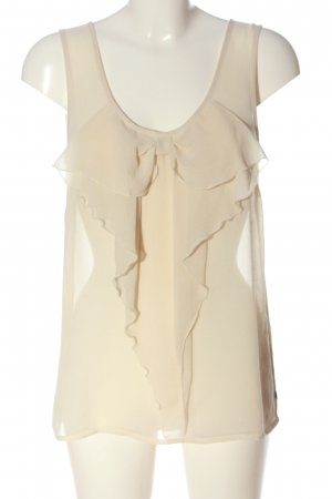 Only Transparenz-Bluse creme Casual-Look