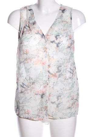 Only Transparenz-Bluse abstraktes Muster Casual-Look