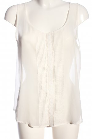 Only Transparenz-Bluse weiß Casual-Look