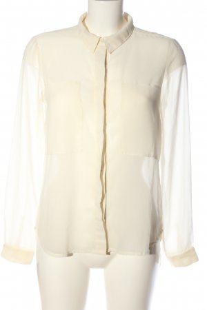 Only Transparenz-Bluse creme Business-Look