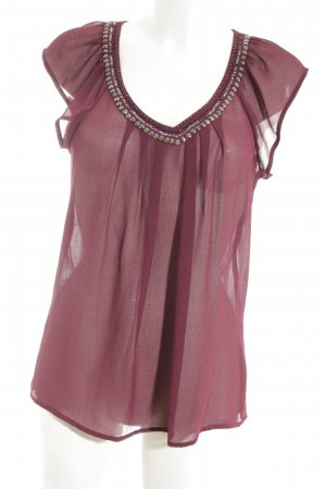 Only Transparenz-Bluse rot Casual-Look