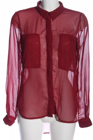 Only Transparenz-Bluse rot Business-Look