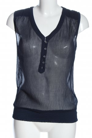 Only Transparenz-Bluse blau Casual-Look