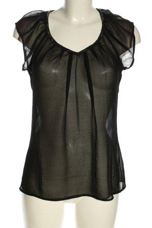 Only Transparenz-Bluse schwarz klassischer Stil