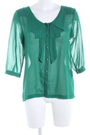 Only Transparenz-Bluse grün Business-Look