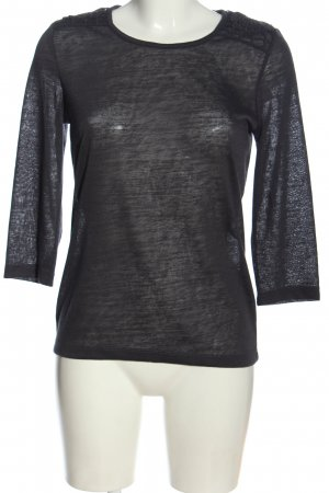 Only Transparenz-Bluse hellgrau Casual-Look