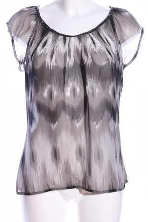 Only Transparenz-Bluse hellgrau abstraktes Muster Business-Look