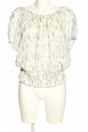 Only Transparenz-Bluse Allover-Druck Casual-Look