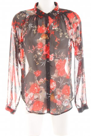 Only Transparenz-Bluse Blumenmuster Casual-Look