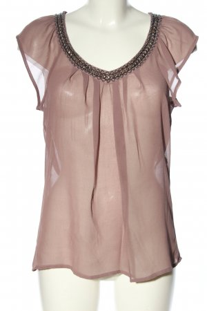 Only Transparenz-Bluse braun Casual-Look