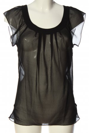 Only Transparenz-Bluse schwarz Elegant
