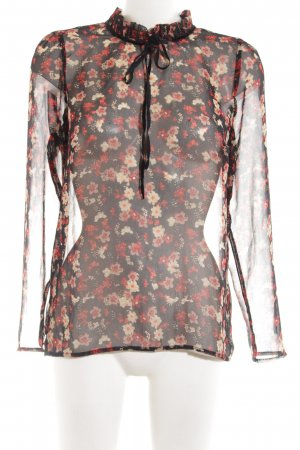 Only Transparenz-Bluse Allover-Druck Business-Look