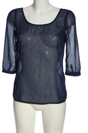Only Transparenz-Bluse blau abstraktes Muster Elegant