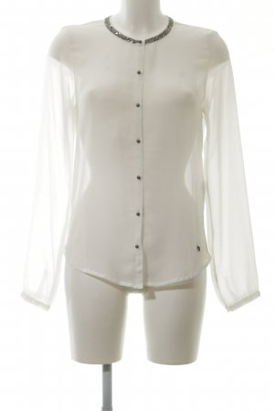 Only Transparenz-Bluse wollweiß Business-Look