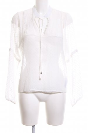 Only Transparenz-Bluse weiß Punktemuster Business-Look