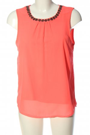 Only Transparenz-Bluse pink Casual-Look