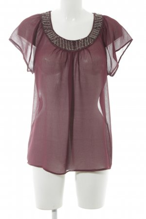Only Transparenz-Bluse purpur Casual-Look