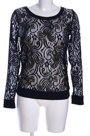 Only Transparenz-Bluse schwarz extravaganter Stil