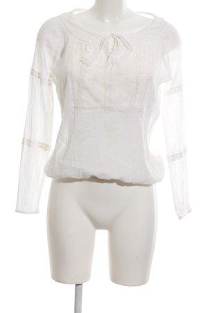 Only Transparenz-Bluse weiß schlichter Stil