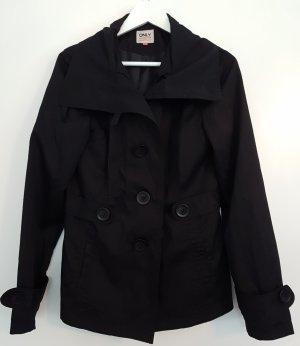 ONLY Trenchcoat in schwarz, Größe M