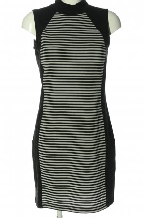 Only Sukienka tunika czarny-biały Wzór w paski W stylu casual