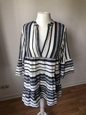 Only Sukienka tunika czarny-biały