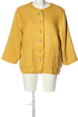 Only Blazer Tweed naranja claro Patrón de tejido look vintage