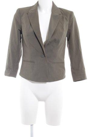 Only Tweed blazer groen-grijs zakelijke stijl