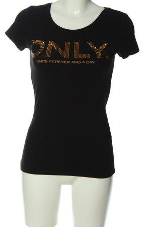 Only U-Boot-Shirt schwarz Schriftzug gedruckt Casual-Look