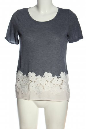 Only U-Boot-Shirt blau-weiß Blumenmuster Elegant