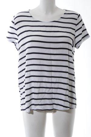 Only U-Boot-Shirt weiß-schwarz Streifenmuster Casual-Look