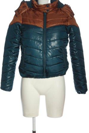 Only Veste mi-saison bleu-brun motif de courtepointe style décontracté