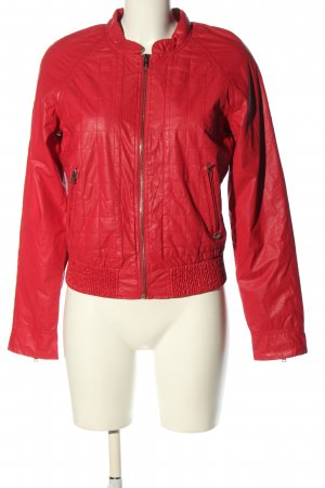 Only Übergangsjacke rot Steppmuster Casual-Look