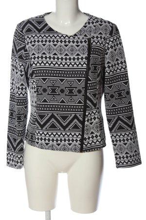 Only Übergangsjacke schwarz-weiß grafisches Muster Casual-Look