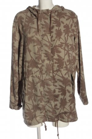 Only Übergangsjacke khaki-braun Allover-Druck Casual-Look