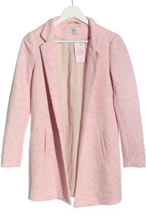 Only Übergangsmantel pink-weiß meliert Casual-Look