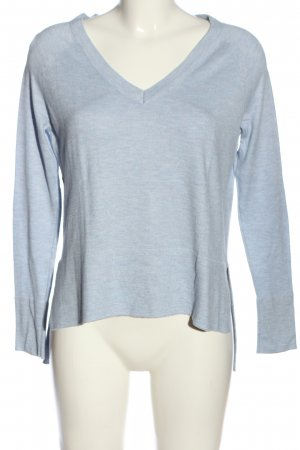 Only V-Ausschnitt-Pullover blau meliert Casual-Look