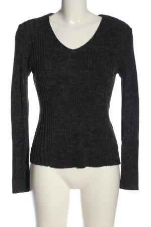 Only V-Ausschnitt-Pullover hellgrau meliert Casual-Look