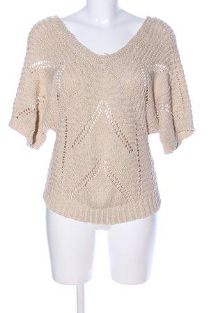 Only V-Ausschnitt-Pullover wollweiß Casual-Look