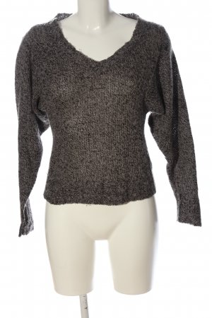 Only V-Ausschnitt-Pullover braun-schwarz Casual-Look